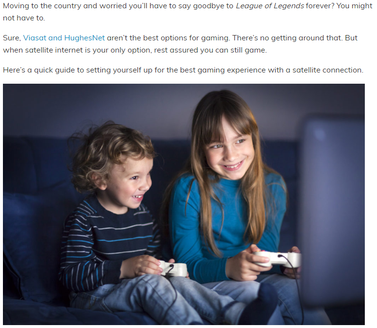 Guide to Gaming on Satellite Internet - Catherine McNally