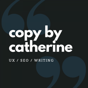 A Copy by Catherine logo on a black background